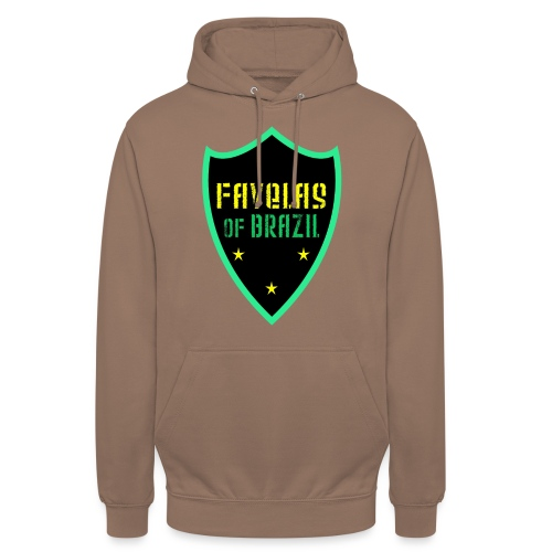 FAVELAS OF BRAZIL NOIR VERT DESIGN - Sweat-shirt à capuche unisexe