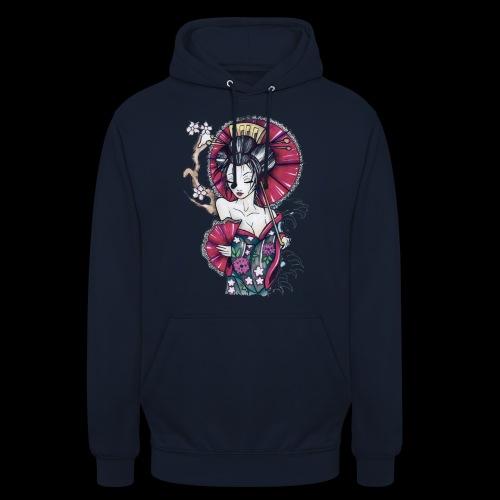 Geisha2 - Felpa con cappuccio unisex