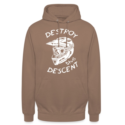 Destroy the Descent - Downhill Mountain Biking - Unisex Hoodie