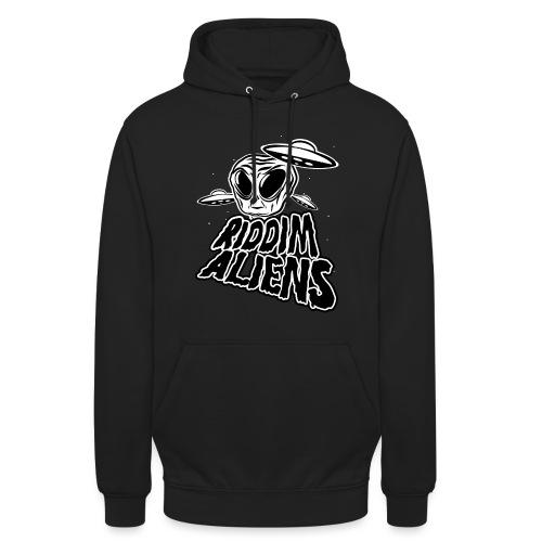 Riddim Aliens (Black Design) - Unisex Hoodie