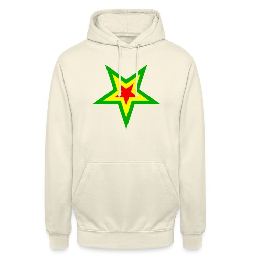 Stern rot, gelb, grün - Unisex Hoodie