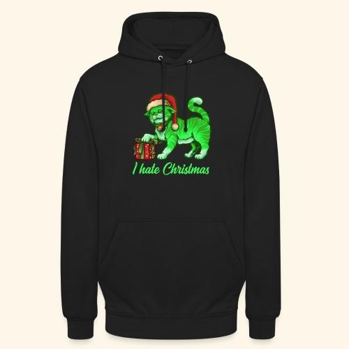 I hate Christmas giftig grüne Weihnachtsmann Katze - Unisex Hoodie