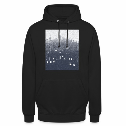 citysnow rectangle - Sweat-shirt à capuche unisexe