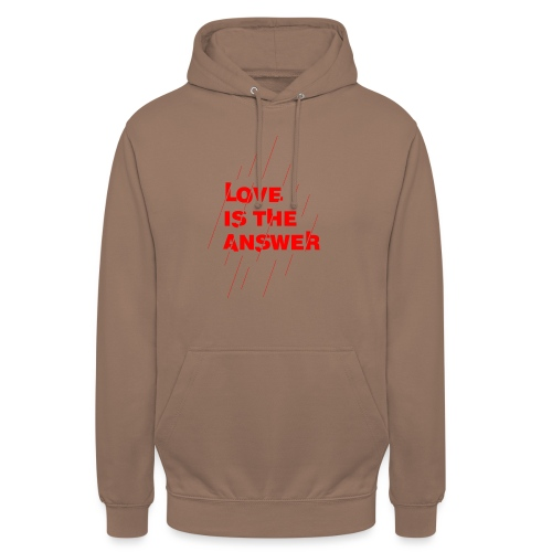Love is the answer - Felpa con cappuccio unisex