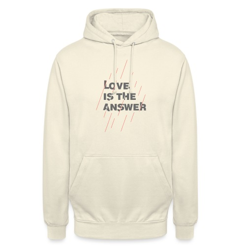 LOVE IS THE ANSWER 2 - Felpa con cappuccio unisex