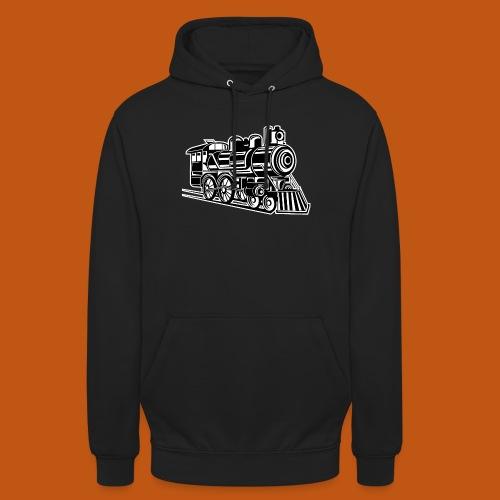 Lokomotive / Locomotive 01_schwarz weiß - Unisex Hoodie