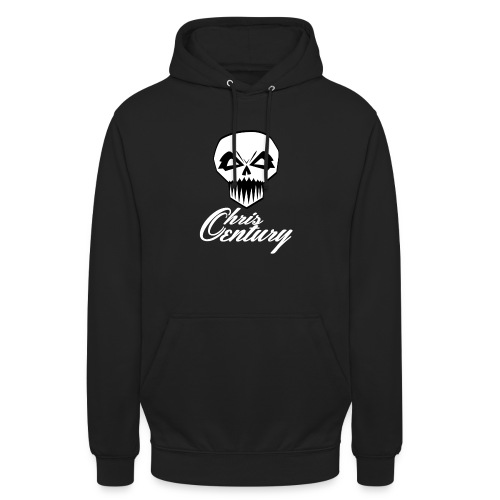 logo Chris Century blanc - Sweat-shirt à capuche unisexe