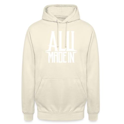 logo_alumadein_vecto_blan - Sweat-shirt à capuche unisexe