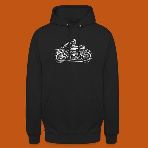 Cafe Racer Motorrad 03_weiß - Unisex Hoodie