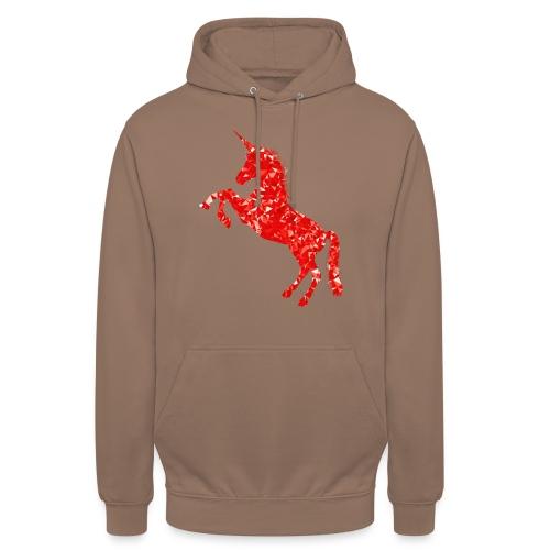 unicorn red - Bluza z kapturem typu unisex