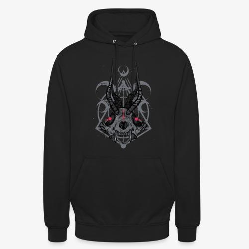 Fox Skull Demonlord - wh Logo - Unisex Hoodie