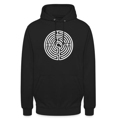 Labyrinth Schutzsymbol Lebensweg Magie Mystik - Unisex Hoodie