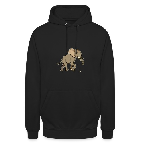 African Elephant (black edition) - Sweat-shirt à capuche unisexe