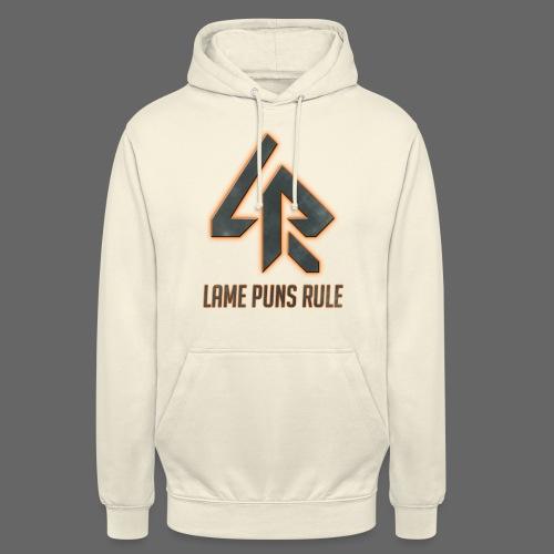 Lame Puns Rule: Logo - Unisex Hoodie