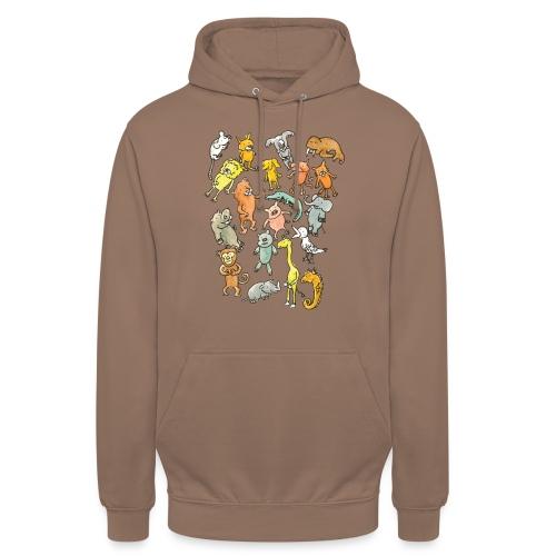 Farandole d'animaux - Sweat-shirt à capuche unisexe