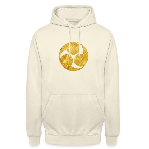 Kobayakawa Mon Japanese clan gold on black - Unisex Hoodie
