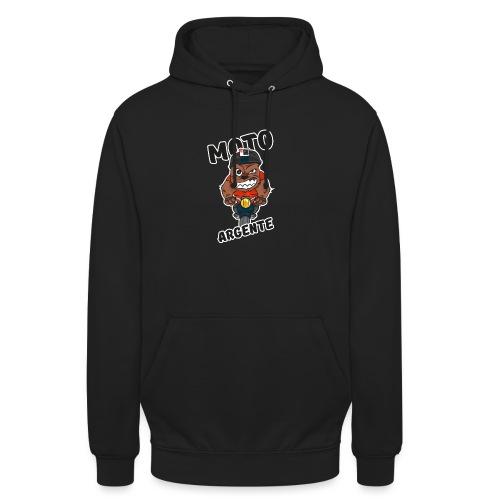 moto argente - Sweat-shirt à capuche unisexe
