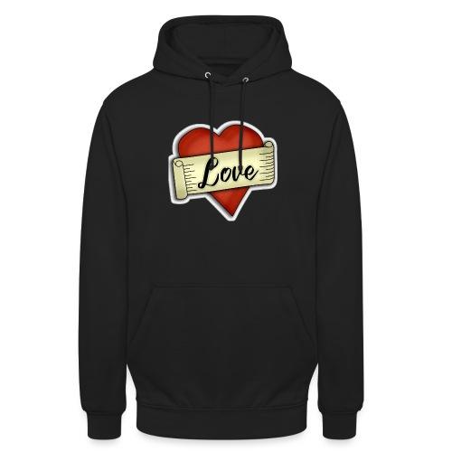 Love cœur tatouage - Sweat-shirt à capuche unisexe