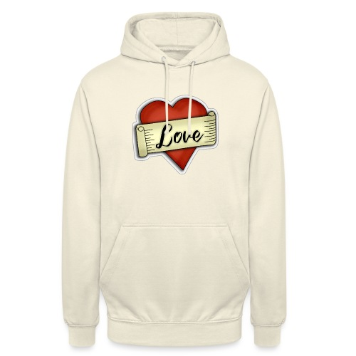 Love cœur tatouage - Sweat-shirt à capuche unisexe