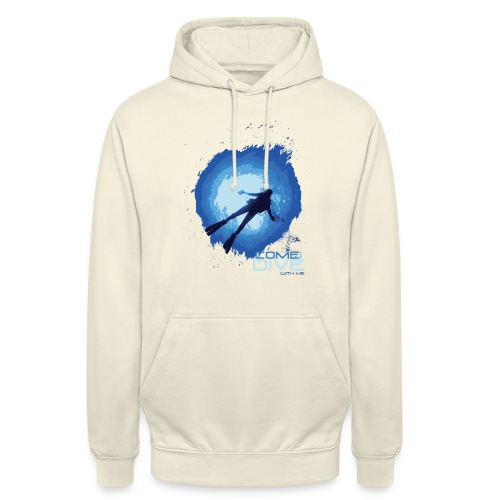 Come and dive with me - Bluza z kapturem typu unisex