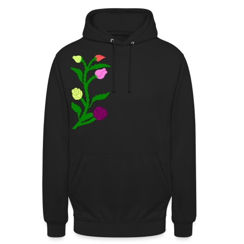 fleurs - Sweat-shirt à capuche unisexe