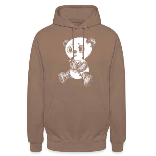 "Panda Karhu valkoinen scribblesirii - Huppari ""unisex"""