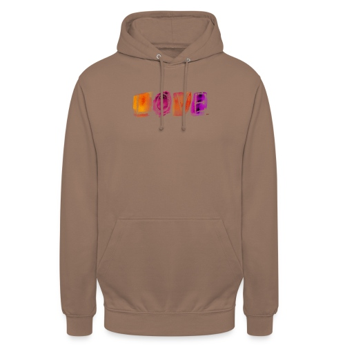 Love - Sweat-shirt à capuche unisexe