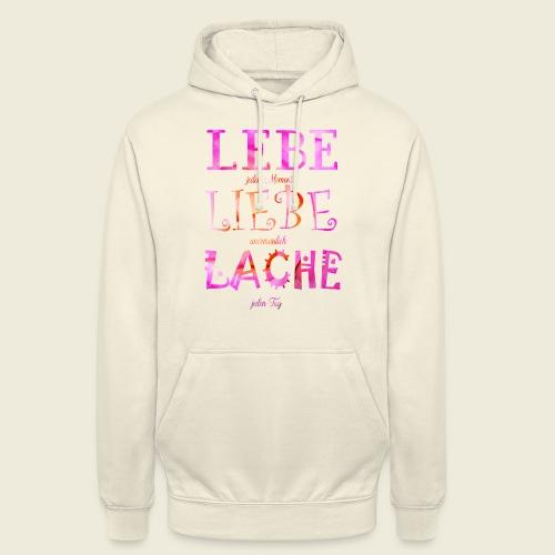 Lebe Liebe Lache pink rosa - Unisex Hoodie