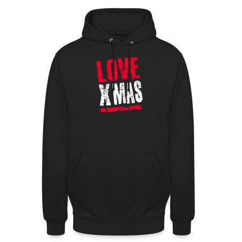 X Mas Love Christmas Weihnachten Geschenk - Unisex Hoodie