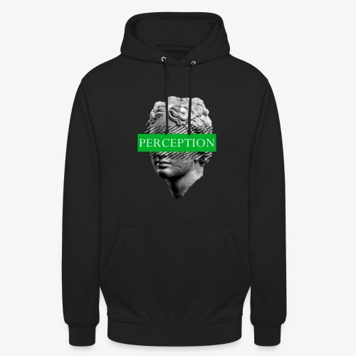 TETE GRECQ GREEN - PERCEPTION CLOTHING - Sweat-shirt à capuche unisexe