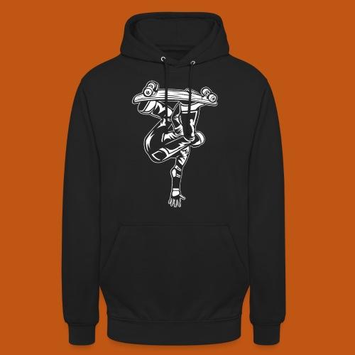 Skater / Skateboarder 03_weiß - Unisex Hoodie