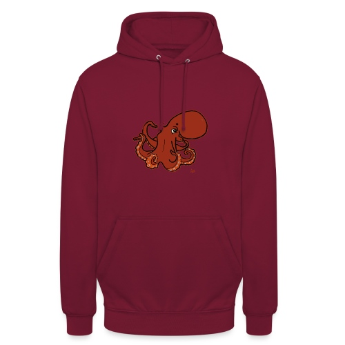 Giant Pacific Octopus (black edition) - Unisex Hoodie