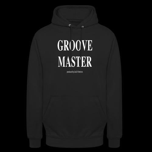Groove Master bianco - Felpa con cappuccio unisex