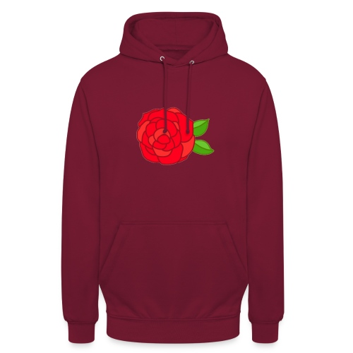 Róża - Bluza z kapturem typu unisex