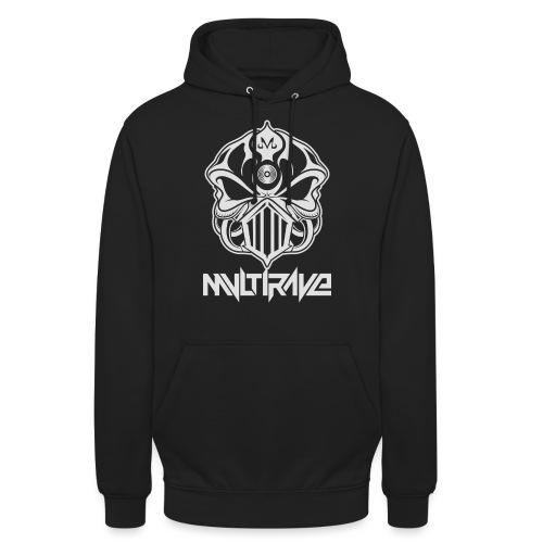 M-Skull white on black - Unisex Hoodie