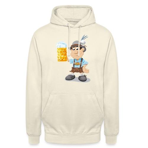Bier Maßkrug Lederhosen Cartoon Man - Unisex Hoodie