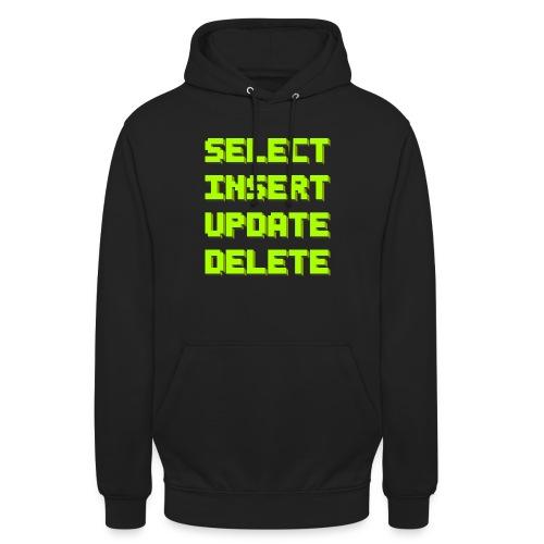 SQL pixelart black - Unisex Hoodie