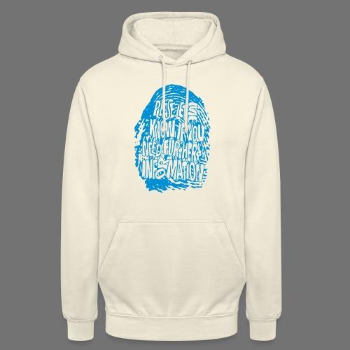 Fingerprint DNA (blue) - Unisex Hoodie
