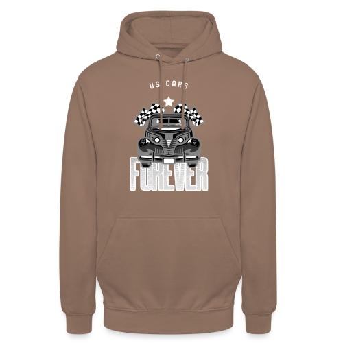 US CARS - Sweat-shirt à capuche unisexe