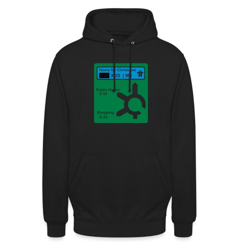 HOME_FOR_CHRISTMAS_SIGN - Unisex Hoodie