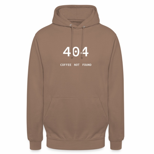 404 Coffee not found - Programmer's Tee - Unisex Hoodie