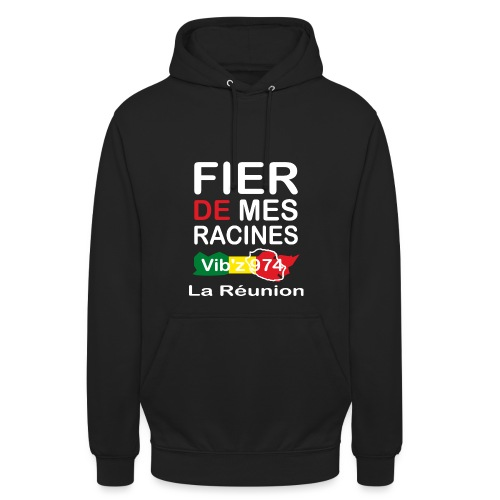 Fier de mes origines 974 - Sweat-shirt à capuche unisexe