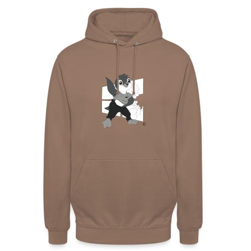 Le pingouin de Nice - Sweat-shirt à capuche unisexe