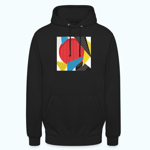 Geometry collage Abstract colors - Unisex Hoodie