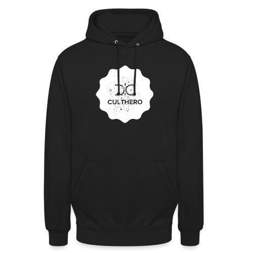 Cult Hero- Hero Gear White Logo Collection - Unisex Hoodie