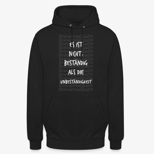 Beständig Immanuel Kant Zitat Spruch Geschenk Idee - Unisex Hoodie