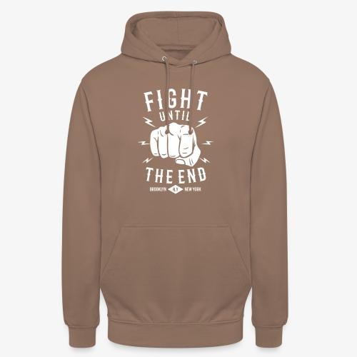 Se battre jusqu'à la fin - Sweat-shirt à capuche unisexe