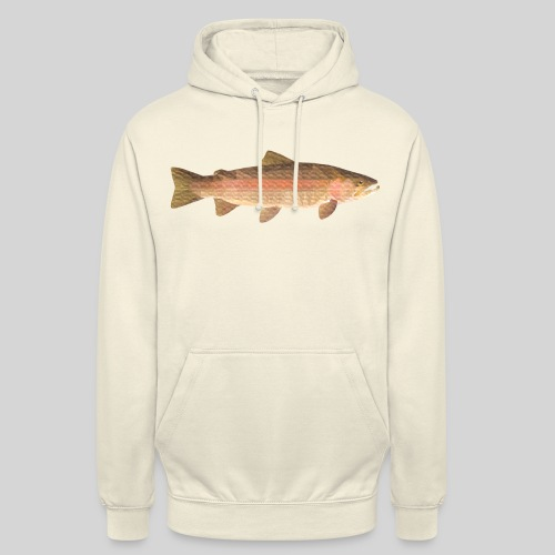 "low-polygon-trout art.png - Huppari ""unisex"""