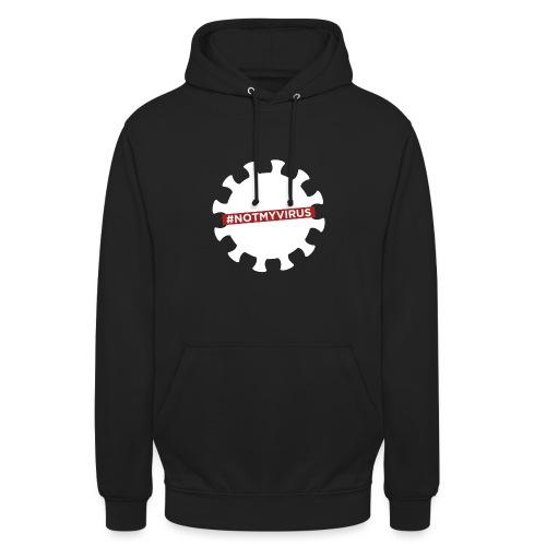 NotMyVirus White - Sweat-shirt à capuche unisexe
