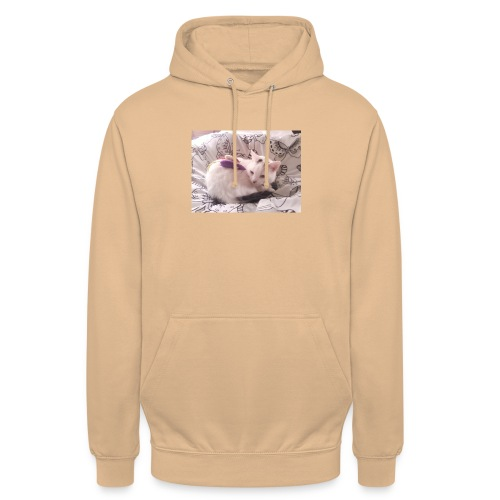 CAT SURROUNDED BY MICE AND BUTTERFLIES. - Unisex Hoodie